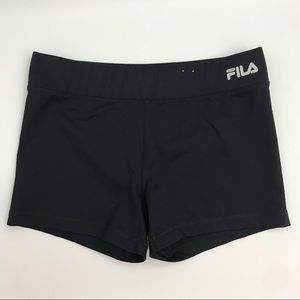 FILA black running compression shorts sz M medium